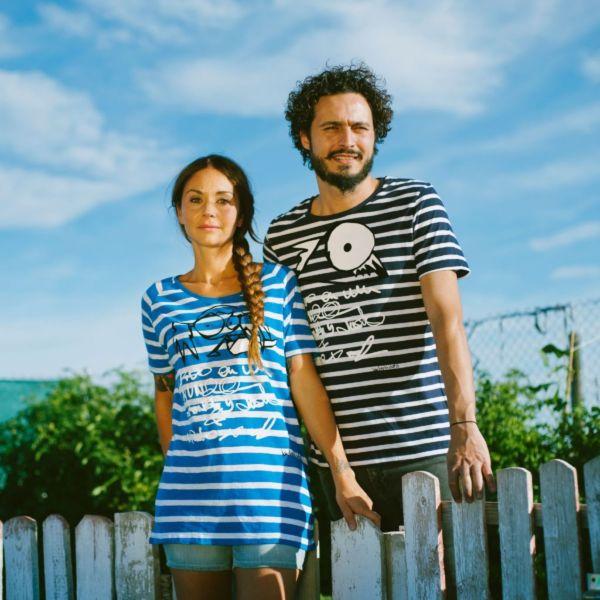 camiseta rayas algodón bio mujer bichobichejo